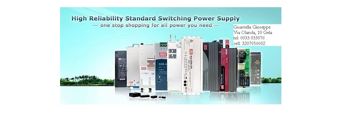 Alimentatori Switching MEAN WELL Power supplies
