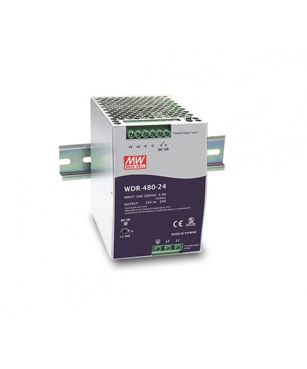WDR-480-24 Alimentatore Switching / Power Supply Mean Well